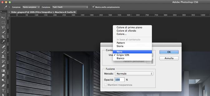Cambiare colore sfondo photoshop cs6